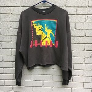 NIKE vintage Jordan cropped sweater Xl